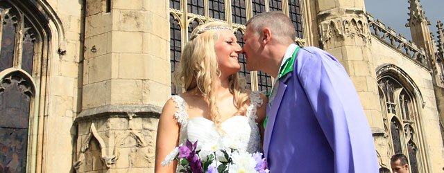 Julie & Tony Foots Get Married 70s Style @ St Mary's Church