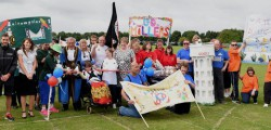A school playing field was temporarily converted into a sports arena, complete with banners, flags and a mock Olympic torch, to host the annual East Riding Legacy Event.