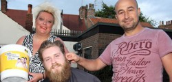 Three local men braved having their body hair removed as they looked to raise cash for the charity 65 Roses.