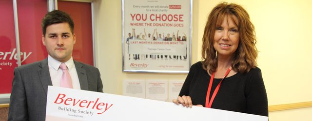 Beverley Building Society Donate Cash To Teenage Cancer Trust