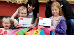 Three lucky winners of the ever popular annual Treasure House Children's Trail prize draw. Morgan Menzies-Baird, Harriet Brady and Chloe Wilson all picked up a prize.