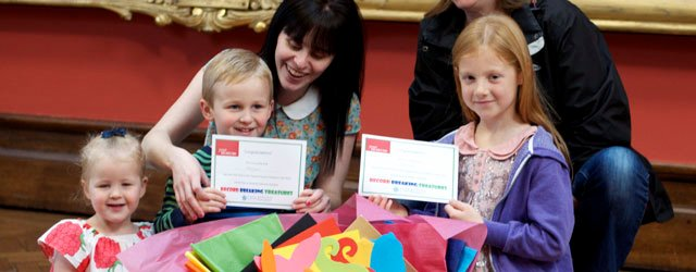 Treasure House Children's Trail Winners Collect Prizes