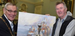 A Molescroft resident, Glynn Barker has reason to celebrate after they won the Wilburn Trophy at the Haltemprice Art exhibition.