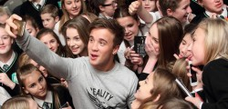 Longcroft School had a visit from the 2013 X-Factor Finalist Sam Callahan, who was there to speak about cyber bullying and also perform some of his music.