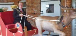 Beverley Westwood Lions Club had a visit from the Mayor of Beverley Peter Astell who had been invited by the club to check out their sleigh.
