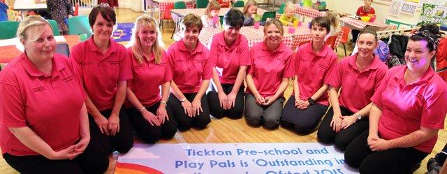 Tickton Pre-School Celebrate Ofsted Success