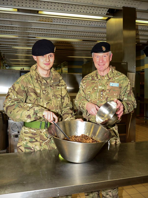Defence School Of Transport Stirs Up A Christmas Pudding Treat
