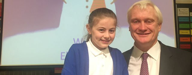 MP Congratulates Pupil on Excellent Christmas Card Artwork