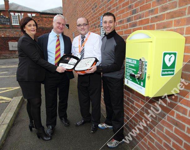Defibrillator Installed at Beverley Leisure Complex