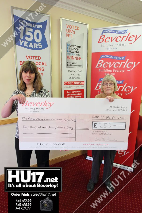 Beverley Consolidated Charity Wins Beverley Building Society Charity of the Month