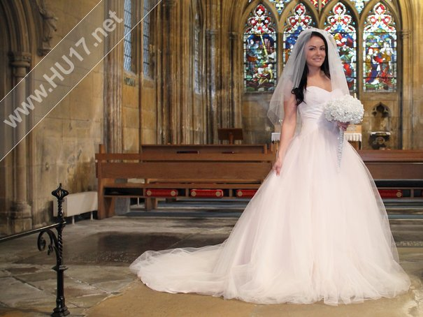 New Wedding Gown Pale Pink size 12 £395.00