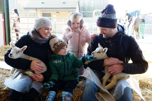 Thousands Of Families Flock To Bishop Burton College For Lambing Sunday