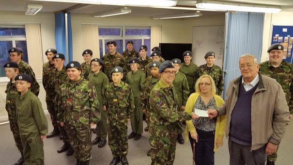 Parish Council Make Donation To Local Air Cadets