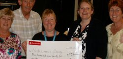 Armstrongs Social Club have handed a check to Alzheimer's Society, East Riding after fund raising by its members topped £900 all of which will go to a good local cause.