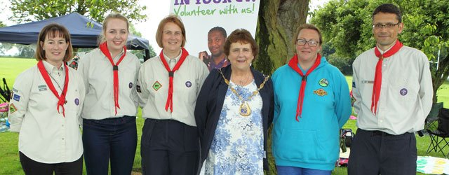 Local Scout Group Mark Queen's 90th Birthday