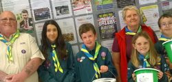 Scouts rolled up their sleeves and spent the day packing the bags os hoppers at Tesco in Beverley so they could raise funds to help fund much needed equipment and also help pay for activities.