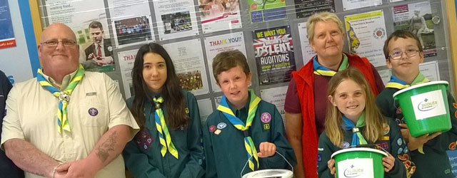 Brandesburton Scouts Tesco Bag Pack Raises £575