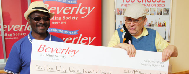Wilf Ward Family Trust voted Beverley Building Society's Charity of the Month