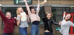 Students at Longcroft School were celebrating after a many achieved the A-level results needed to get the university places of their choice.