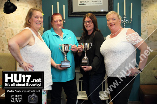 Queens Head Ladies Celebrate After Winning Three Darts Awards