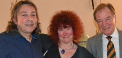 For the fourth year running, Beverley Rotary Club was delighted to present the eminent media presenters and Egyptologists, Professor Joann Fletcher and her partner Dr Stephen Buckley.