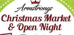 Armstrongs Social Club are promising a fun filled evening for all the family at their annual Charity Christmas Market.