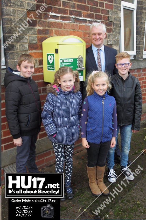Latest Defibrillators Installed Locally Celebrated By MP