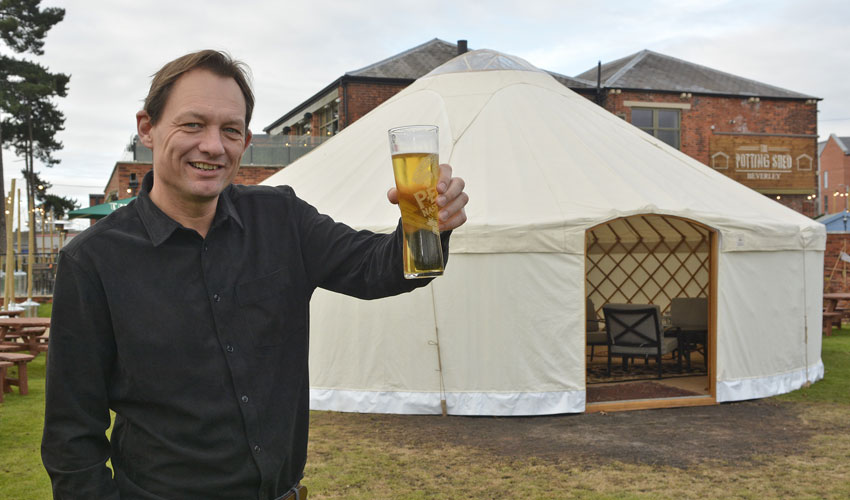 Potting Shed Beverley Install Yurt So Festive Drinkers Can Enjoy The Garden