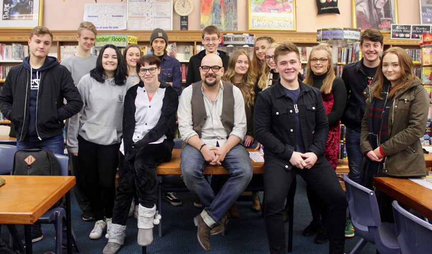 Best-Selling Local Author David Mark Visits Longcroft School