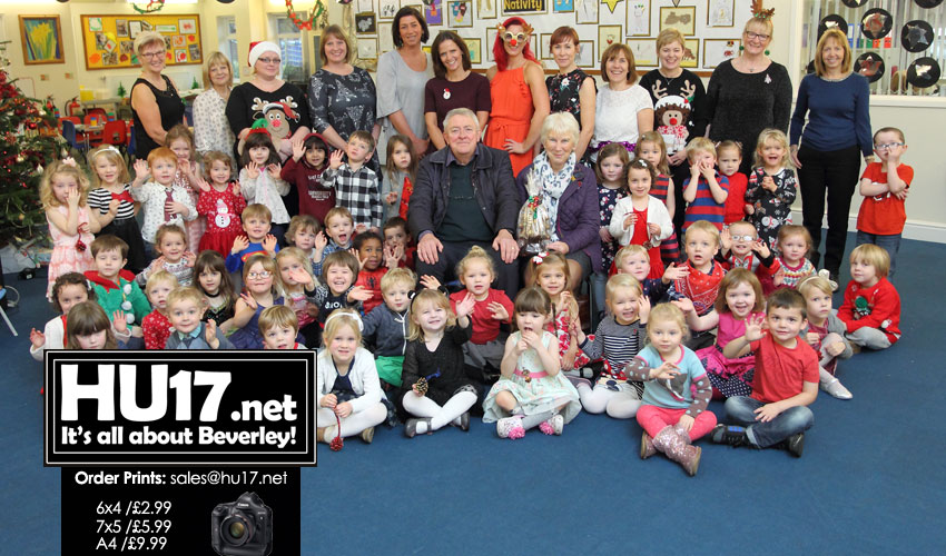 Manor Road Nursery Celebrate After Winning Christmas Tree Competition