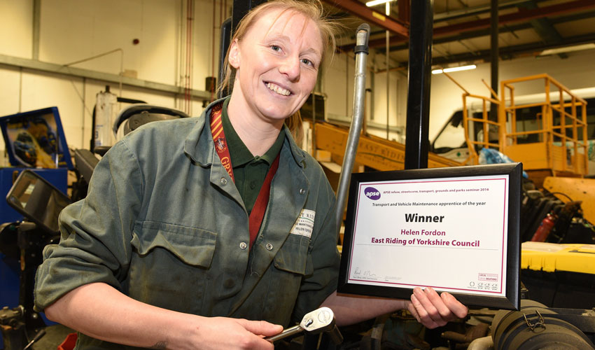 Trainee Mechanic Helen Named Best Apprentice In The Country