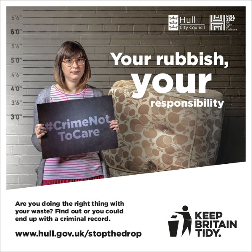 Hull Joins Forces With Keep Britain Tidy To Tackle Fly-Tipping