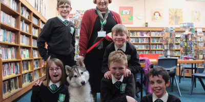 Year 7 Students Welcome Reading Dog To Longcroft School Library