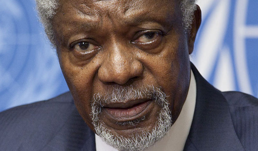 Kofi Annan Former United Nations Secretary-General To Visit Hull