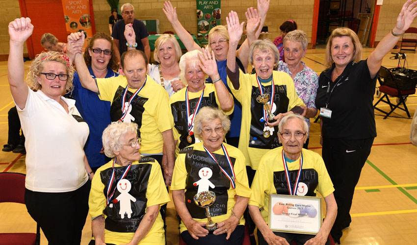 Annual  Care Home Games Show Age Is No Obstacle