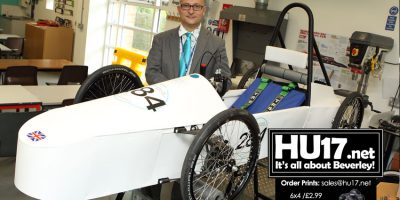 Beverley High School Green Power Challenge Car Almost Complete