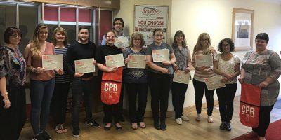 British Heart Foundation Teach Life-Saving Skills To Society Team