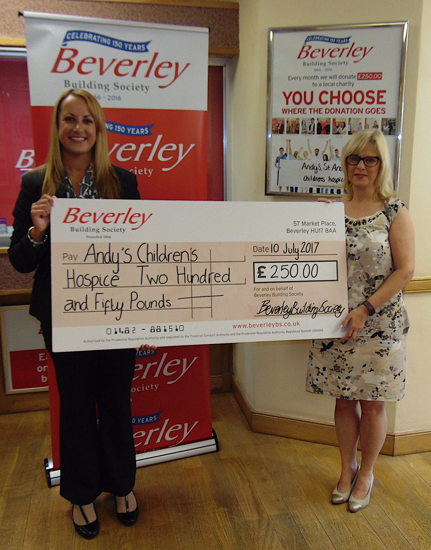 Children's Hospice Wins Beverley Building Society Charity of the Month