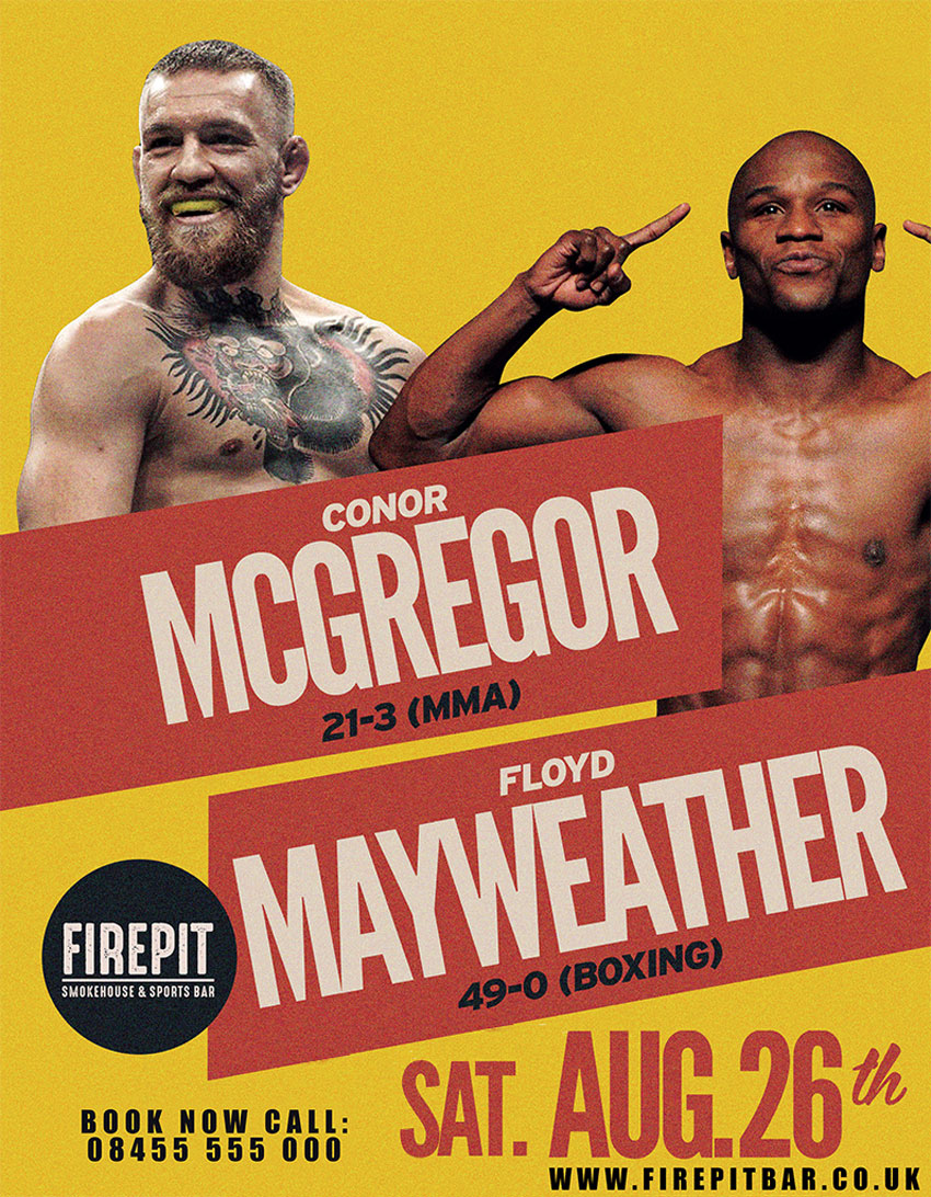 Book Now And Watch Mayweather Fight McGregor At The FIREPIT