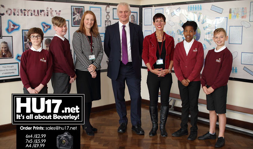 Minster Primary School Welcome MP As Pupils Learn About Democracy