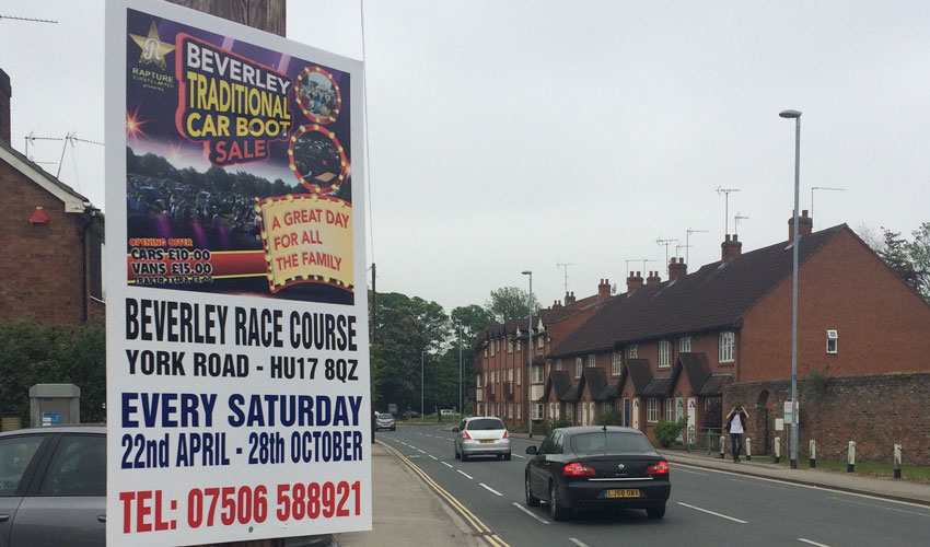 Man Ordered To Pay £2,181 For Fly-posting In Beverley And Willerby