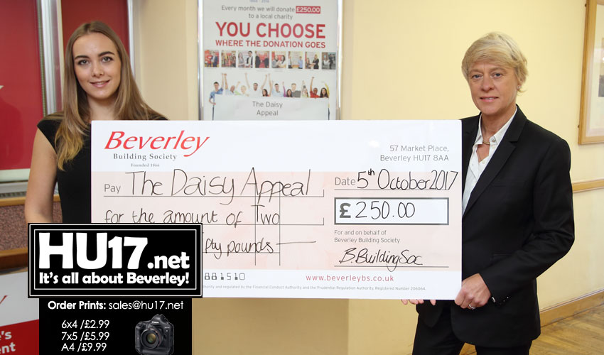 Society Announces Charity Of The Month Is The Daisy Appeal