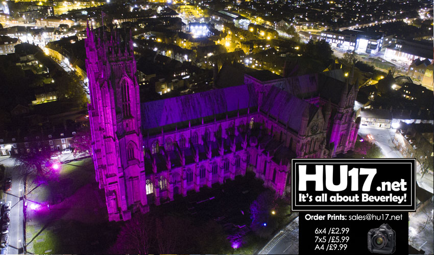 GALLERY : Light it Purple – Purple Lights UK @ Beverley Minster