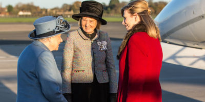 Queen Visits Humberside Airport As Part Of Royal Visit To Hull