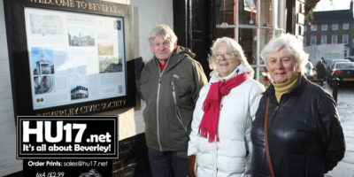 Beverley Civic Society Unveils Latest Historic Information Board