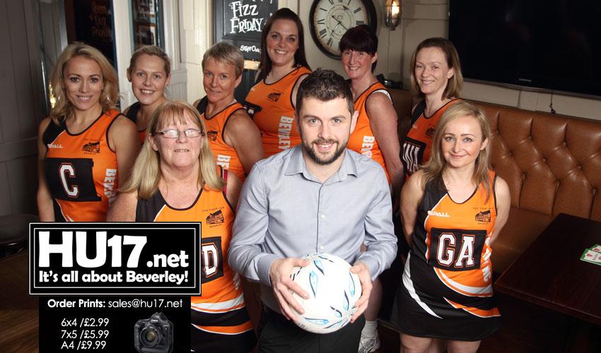 Tiger Inn Back Beverley Netball Club By Funding New Playing Strip