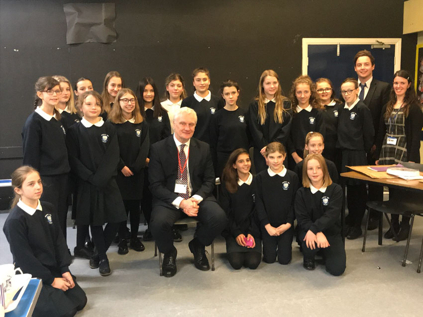 Graham Stuart MP Goes 'Back to School' At Beverley High