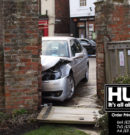 St Mary's Church Wall Badly Damaged After Car Crashes Into Gate