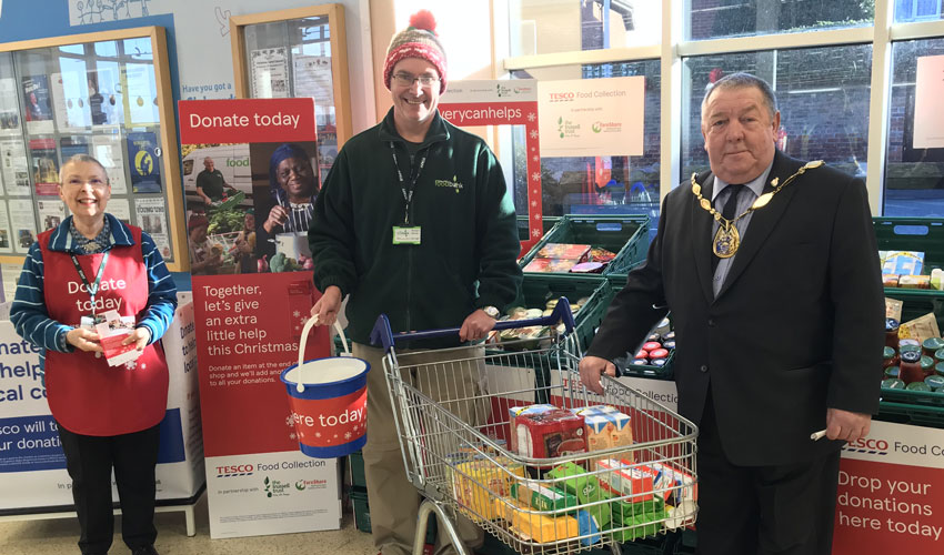Tesco Beverley's Food Collection A Great Success