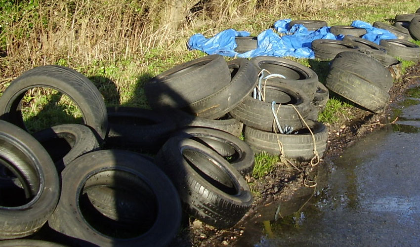 Appeal For Witnesses After 50 Tyres Fly-tipped Off A164 Near Skidby